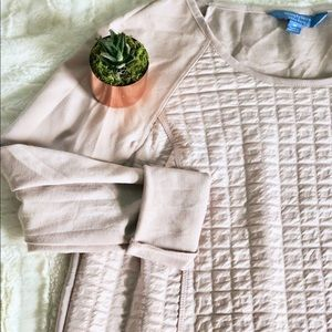 Vera Wang | flow back quilted pale pink • m